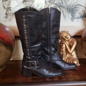 Harley Davidson knee length riding boots